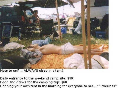 Funny Picture - Always Sleep In A Tent!