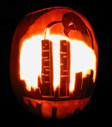 Funny Picture - Patriotic Pumpkin