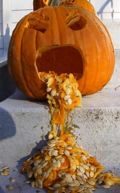 Funny Picture - A Drunk Pumpkin