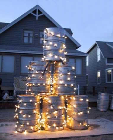 Funny Picture - A Fraternity Christmas Tree - Christmas Tree