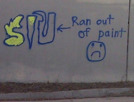 Funny Picture - Grafitti Fail