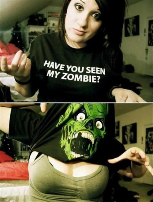 Funny Picture - Zombie Shirt