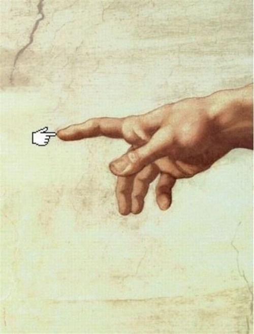 Funny Picture - Microsoft Meets Michelangelo