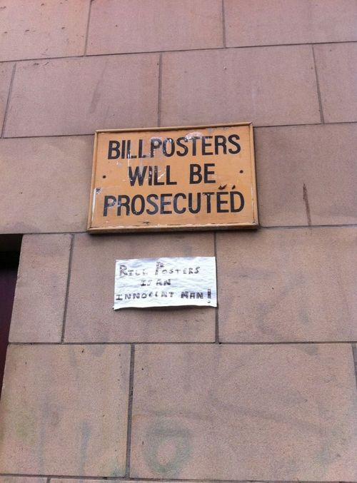 Funny Picture - Bill Posters