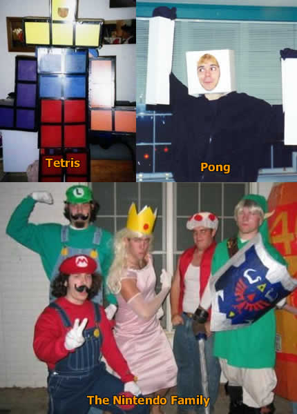 Funny Picture - Video Game Halloween Costumes