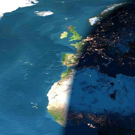 Funny Picture - A Sunset From Space